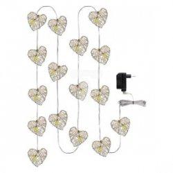 Dekoracja świąteczna /serca/ 1W 16LED / 3m IP20 ciepły biały ZY1404