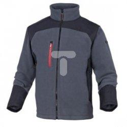 Bluza z polaru poliestru 350 g/m2 L szaro-czarna BRIGHGRGT