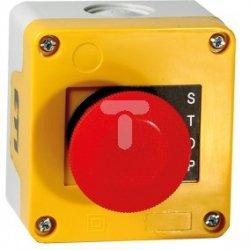 Kaseta sterownicza żółta + napęd grzybkowy 40mm samopowrotny /awaryjne zatrzymanie-czerwony/ JAE10000