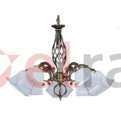 Żyrandol WELLA 5xE27 60W patyna/biały 5192511
