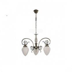 Żyrandol BOSSA 3xE14 60W patyna/biały 5940311