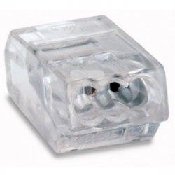 Złączka instalacyjna 3-przewodowa 0,75-1,5mm2 przeźroczysta 273-153