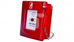 Przycisk ppoż. natynkowy 1Z 1R czerwony z młotkiem bez sygnalizacji IP55 ROP-A W0-ROP-AM0K XY