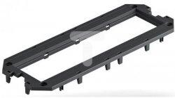 Ramka montażowa do UT4, 4 Modul45 208x76x4 PA grafitowoczarny RAL 9011 7408763 /10szt./