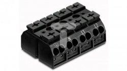 Blok zasilający 4-biegunowy czarny nadruk PE-N-L1-L2 862-1504 /200szt./