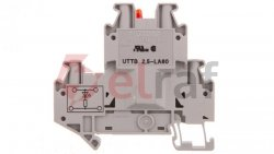 Złączka szynowa elementów kontrolnych 2-piętrowa 4-przewodowa 2,5mm2 szara UTTB 2,5-LA 60 R 3046702
