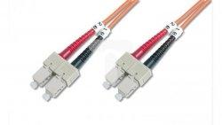 Patch cord światłowodowy SC/SC duplex MM 50/125 OM2 3m LS0H pomarańczowy DK-2522-03