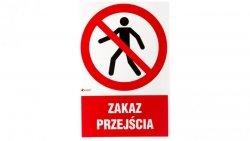 Tabliczka ostrzegawcza /Zakaz przejścia/ IP/004/1/C1/F