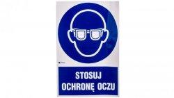 Tabliczka ostrzegawcza /Stosuj ochronę oczu z podpisem/ IM/004/1/C1/F
