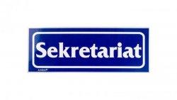 Tabliczka ostrzegawcza /SEKRETARIAT/ 3/T/F