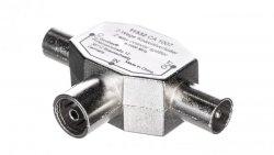 Rozdzielacz sygnału TV splitter 1x IEC żeński / 2x IEC męski 11532