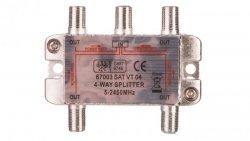 Rozdzielacz sygnału SAT splitter 1x F / 4x F 5-2500MHz 67003