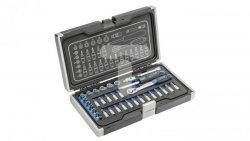 Zestaw nasadek końcówek wkrętakowych i akcesoriów 1/4 34 elementy HT1R464