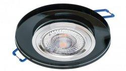 Oprawa szklana GLASSO-O-B okrągła czarna 90x8 halogenowa wpuszczana - 1szt LUX06741
