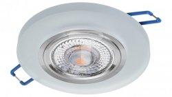 Oprawa szklana GLASSO-O-F okrągła frost / szron 90x8 halogenowa wpuszczana - 1szt LUX06743