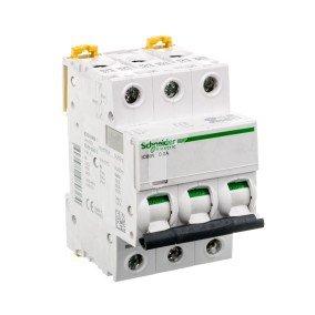 Wyłącznik nadprądowy 3P C 2A 6kA AC iC60N 3P 2A C INTERN A9F74302