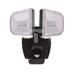 Projektor naścienny LED 13W z czujnikiem PIR, obudowa plastikowa, dyfuzor PC, 1100 lm, AC 220V-240V, IP44, LP-12-031