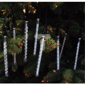 Tuba z ledami LED meteorki 10 o długości 16cm dystans między tubami 45cm czarny przewód 5m biały 200L 50-404