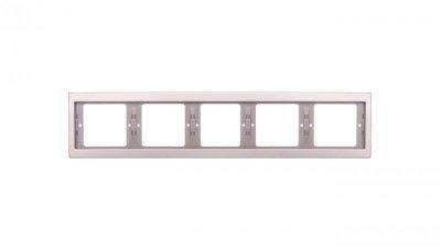 Berker K.5 Ramka 5-krotna pozioma stal szlachetna nierdzewna 13937004
