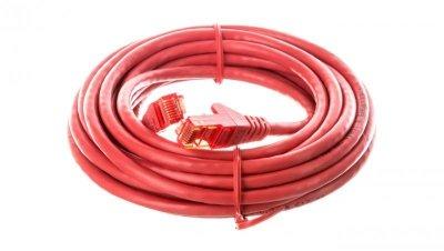 Kabel krosowy patchcord U/UTP kat.6 CCA czerwony 5m 68421