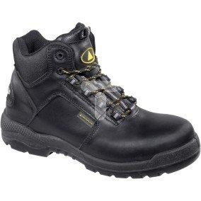 Buty z pełnej skóry licowej wodoodporne, podeszwa z PU podnosek i wkładka kompozytowe kolor czarny rozmiar 47 PIED  CT600S3NO47