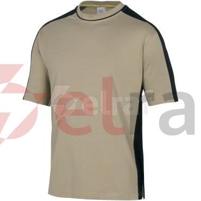 T-shirt dwukolorowy z krótkimi rękawami z bawełny (100%) 180 g/m2 kolor beżowo-czarny rozmiar 3XL CORP MSTM5BE3X