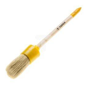 Pędzel owalny emulsyjny 8 uchwyt drewniany włosie sztuczne do farb emulsyjnych lateksowych i akrylowych 20B903