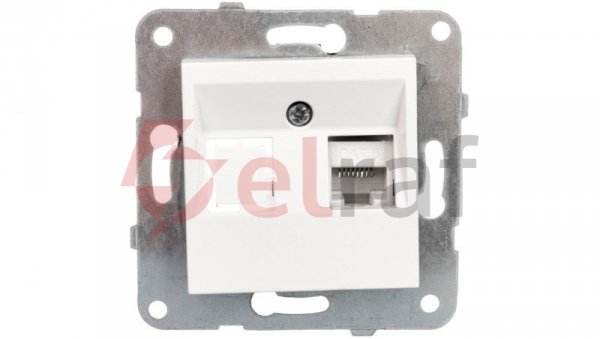 KARRE Gniazdo komputerowe 1xRJ45 kat 6 białe 90963678
