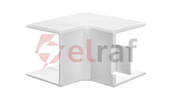 Narożnik do kanałów kablowych wewnętrzny AI 25x25 biały /2szt/ ECAI2525B