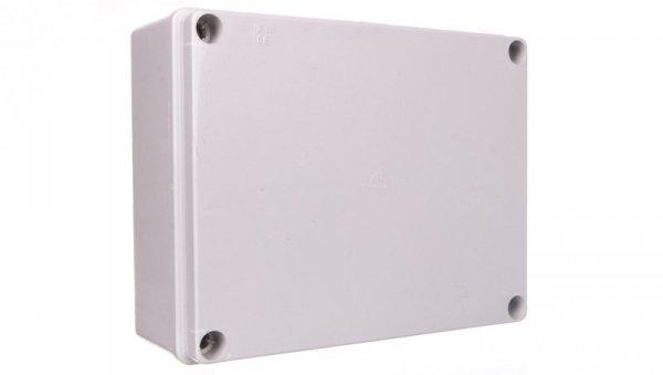 Puszka natynkowa samogasnąca gładka z pokrywą 960 stopni C seria 410A IP56 240x190x90 szara EC410C7A