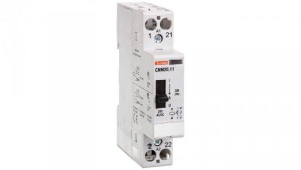 Stycznik modułowy z dźwignią 20A 1Z 1R 24V AC/DC CNM2011024