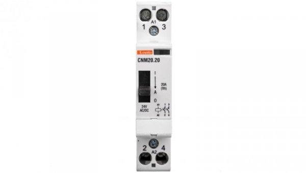 Stycznik modułowy z dźwignią 20A 2Z 0R 24V AC/DC CNM2020024