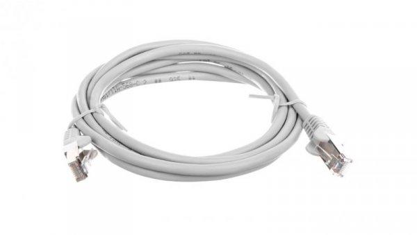 Kabel krosowy patchcord SF/UTP kat.5e CCA szary 2m 50145