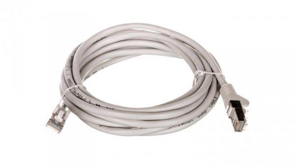 Kabel krosowy patchcord SF/UTP kat.5e CCA szary 3m 50146
