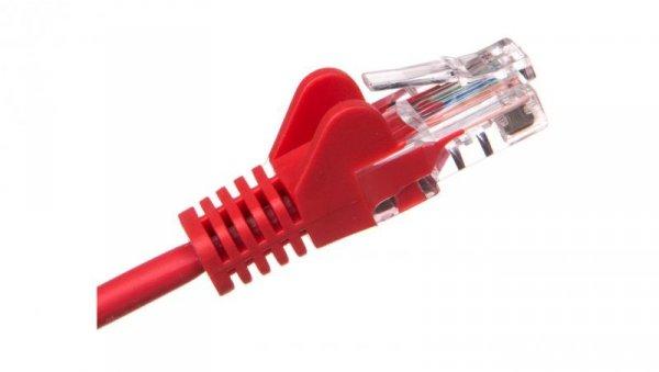 Kabel krosowy patchcord U/UTP kat.5e CCA czerwony 2m 68359