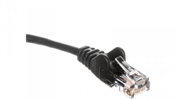 Kabel krosowy patchcord U/UTP kat.5e CCA czarny 3m 68649