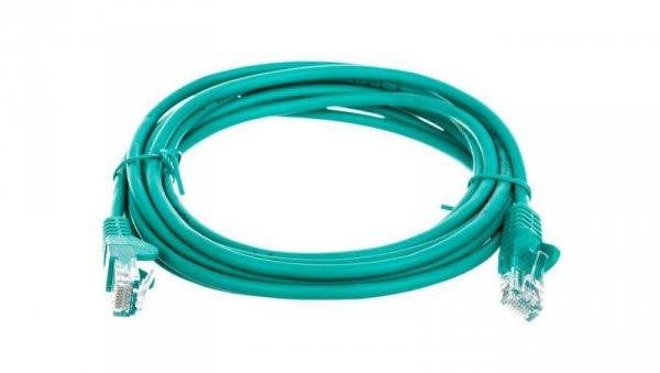 Kabel krosowy patchcord U/UTP kat.5e CCA zielony 3m 68368