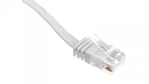 Kabel krosowy płaski patchcord U/UTP kat.5e biały 3m 93360