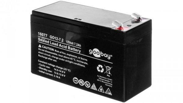 Akumulator kwasowo-ołowiony 12V 7,2Ah GO12-7.2 Faston (4.8mm) 16077