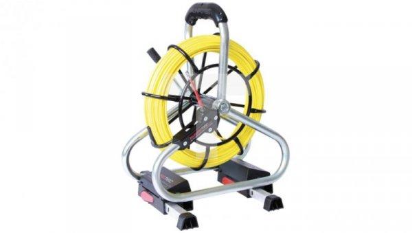 Pilot do przeciągania kabla włókno szklane fi 4,5mm na stojaku standard 10058 /50m/