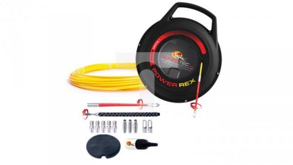 Pilot do przeciągania kabla włókno szklane w kasecie POWER REX fi3 10090 /50m/