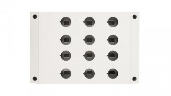Obudowa kasety 12-otworowa 22mm szara IP67 M22-I12 222688