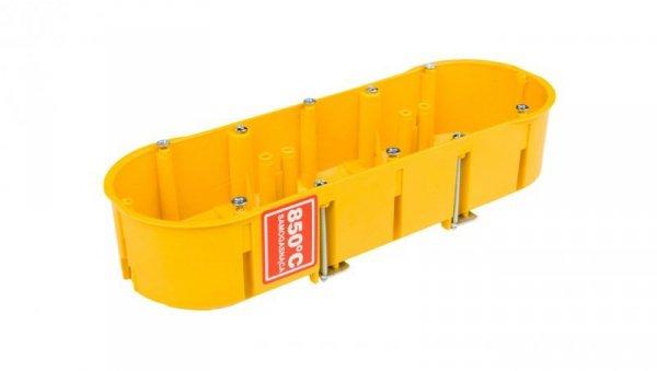 Puszka podtynkowa potrójna 60mm regips żółta PK-3x60 0234-0N