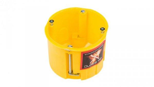 Puszka podtynkowa 60mm regips głęboka niepalna żółta PK-60 0220-0N /40szt/