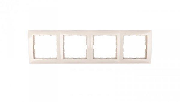 Berker/B.Kwadrat Ramka poczwórna kremowa 5310148982