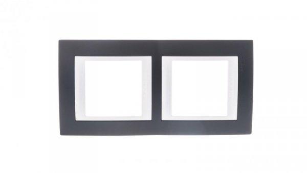 Unica Plus Ramka podwójna czerń mineralna pionowa MGU6.004V.877