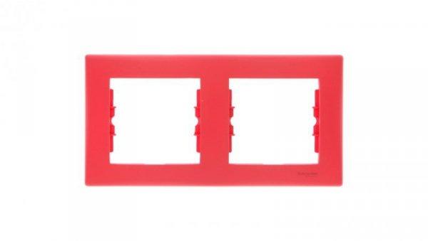 Sedna Ramka podwójna pozioma czerwona SDN5800341