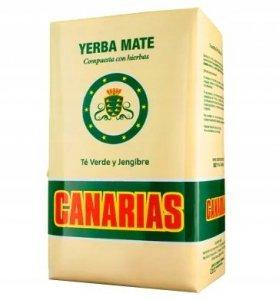 Yerba Mate Canarias Te Verde Jengibre 1kg