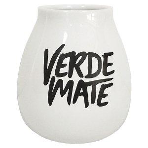 Matero Ceramiczne Verde Mate Białe do Yerba Mate
