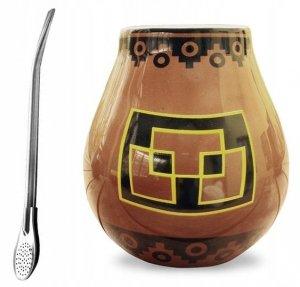Matero Ceramiczne PERU + Bombilla - do Yerba Mate